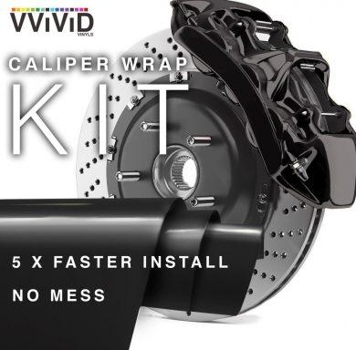 Black Caliper Wrap Enamel Vinyl Film