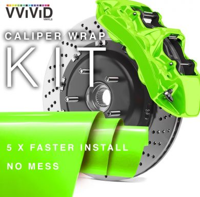 Lime Green Caliper Wrap Enamel Vinyl Film
