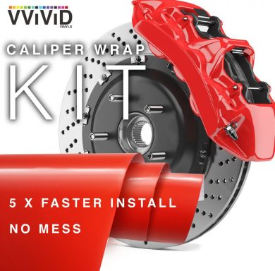 Red Caliper Wrap Enamel Vinyl Film