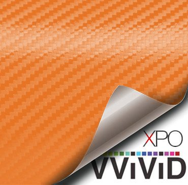 Orange Carbon Fiber Car Wrap Vinyl Film